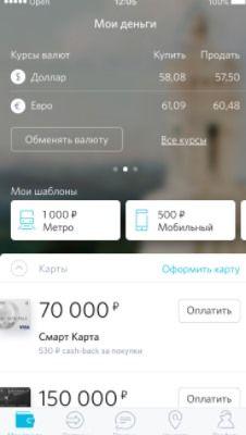 Вкладка «Мои деньги»
