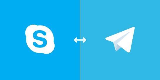 телеграм и скайп