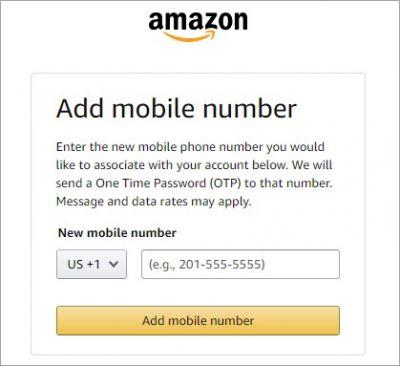 Регистрация на Амазон